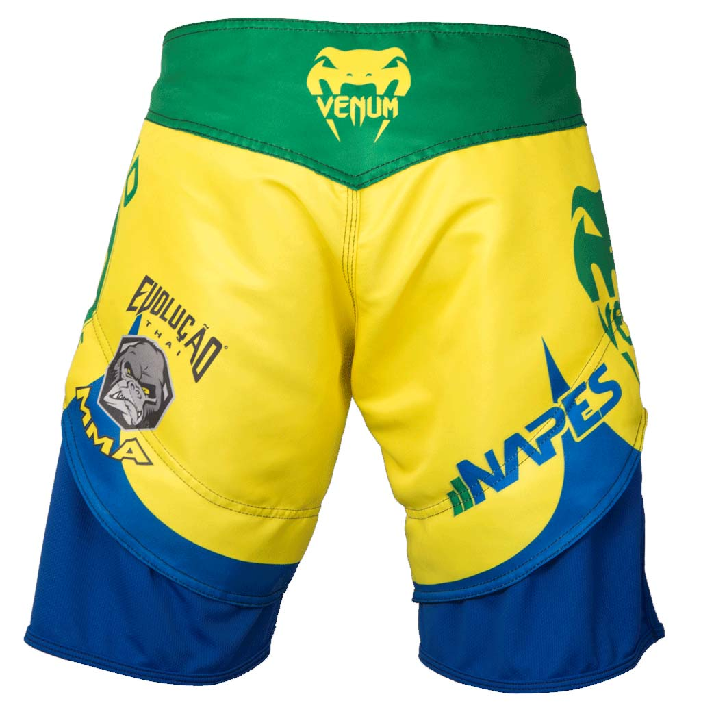 Bermuda MMA - Wand Return - Amarelo - Venum  - Loja do Competidor