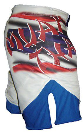Bermuda Muay Thai MMA - Dry 1653 -  Branco/Azul -  Dominium -