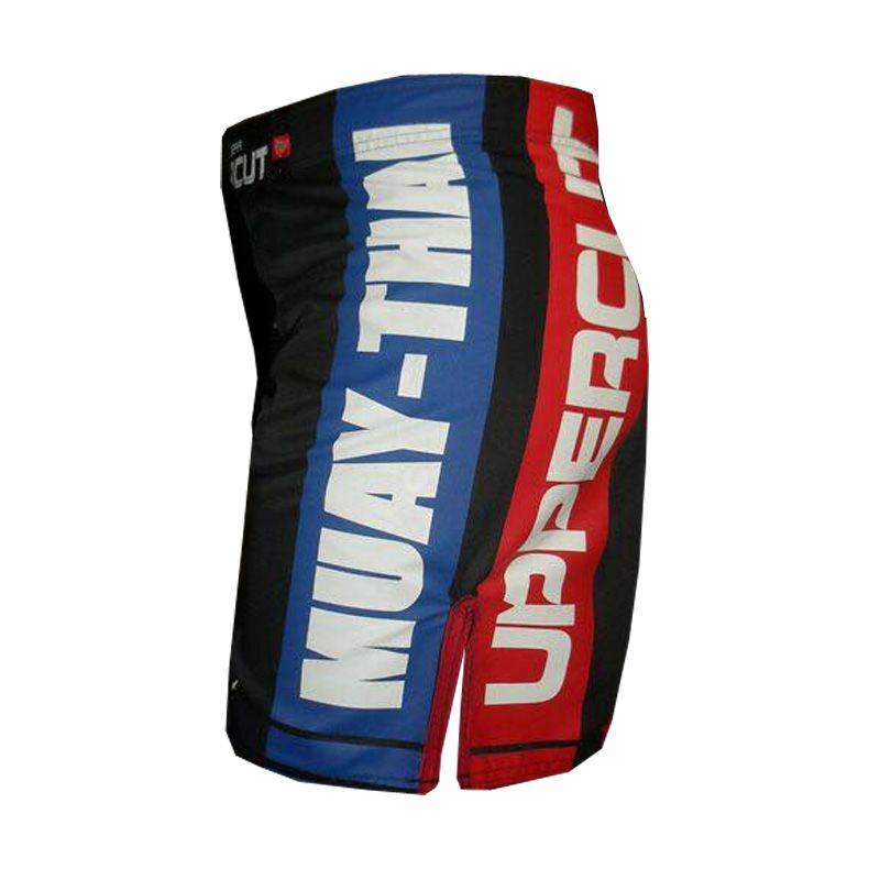 Bermuda Muay Thai - Red & Blue - Preto - Uppercut . - Loja do Competidor