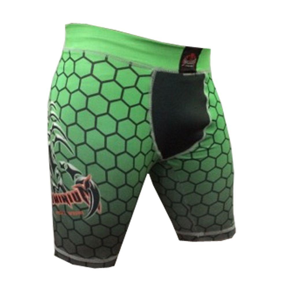 Bermuda Sungão de Compressão Térmica - Masculino - Verde - 2226 - Dominium -  - Loja do Competidor
