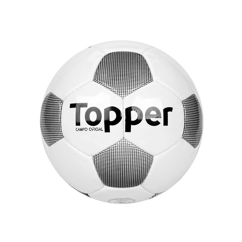 Bola de Futebol de Campo - Extreme 4 - Costurado - Branco/Preto- Topper