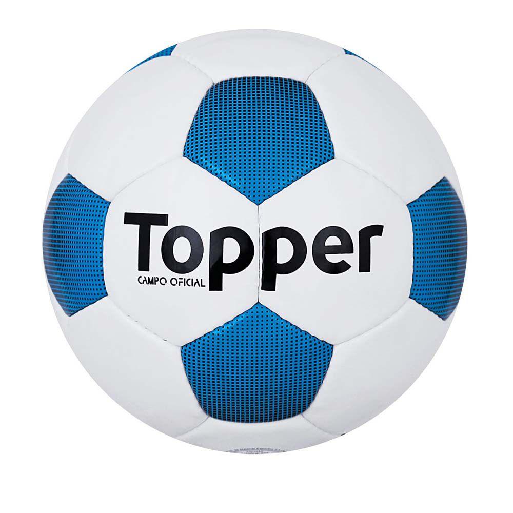 Bola de Futebol de Campo - Extreme 4 - Costurado - Branco/Azul- Topper