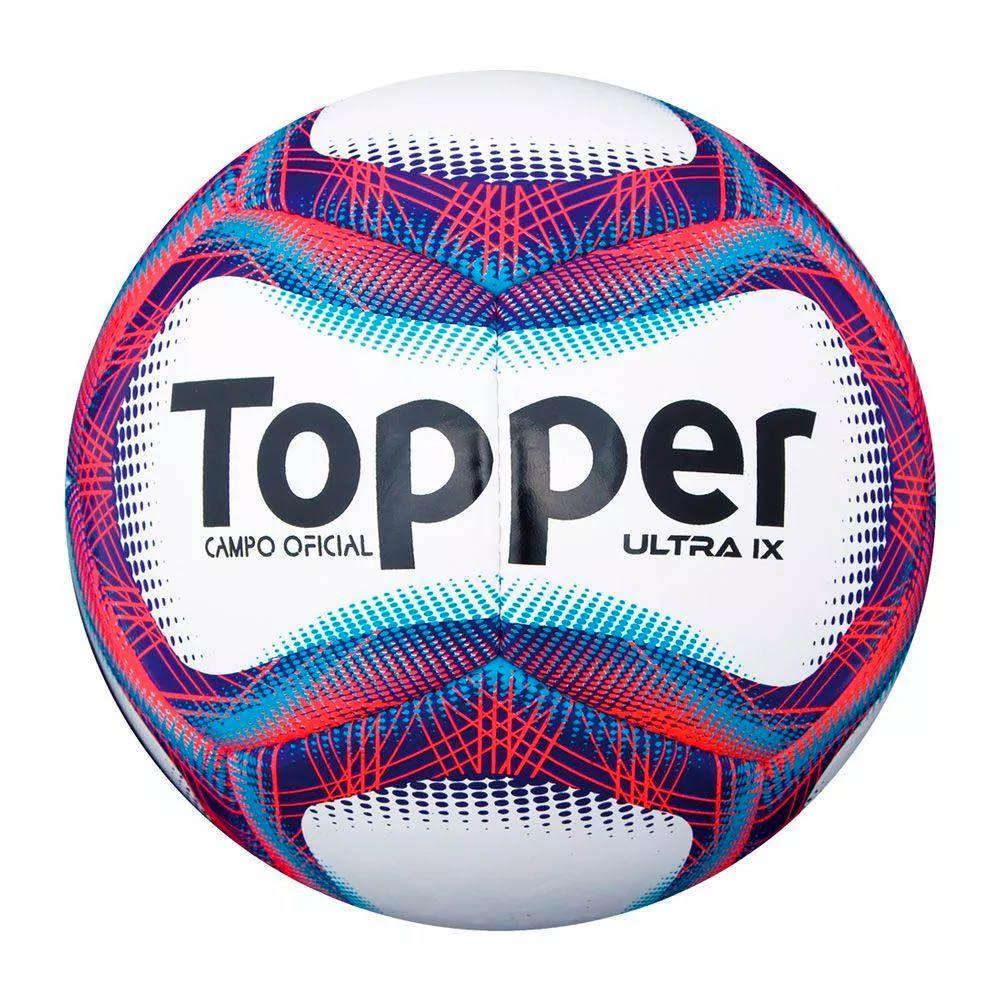 Bola de Futebol de Campo - Oficial - Ultra IX - 12 Gomos - Topper
