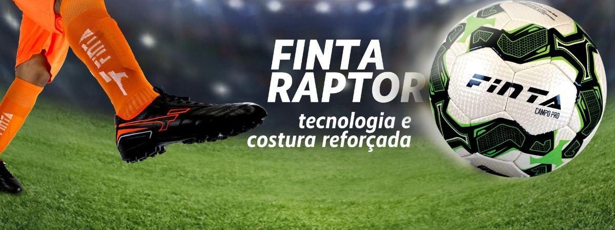 Bola de Futebol de Campo - Raptor Pro com Costura - 32 Gomos - Finta  - Loja do Competidor