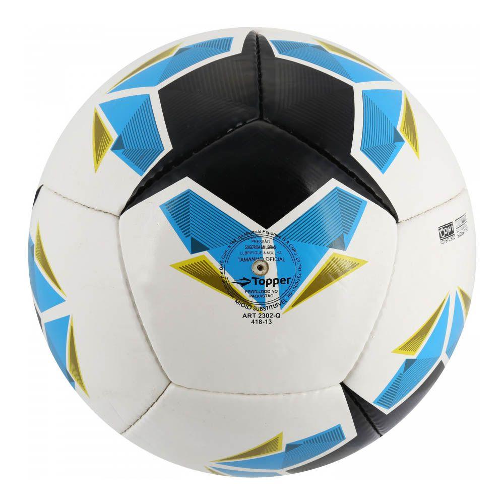Bola de Futebol de Campo - Seleção BR IV - Branco - Topper  - Loja do Competidor