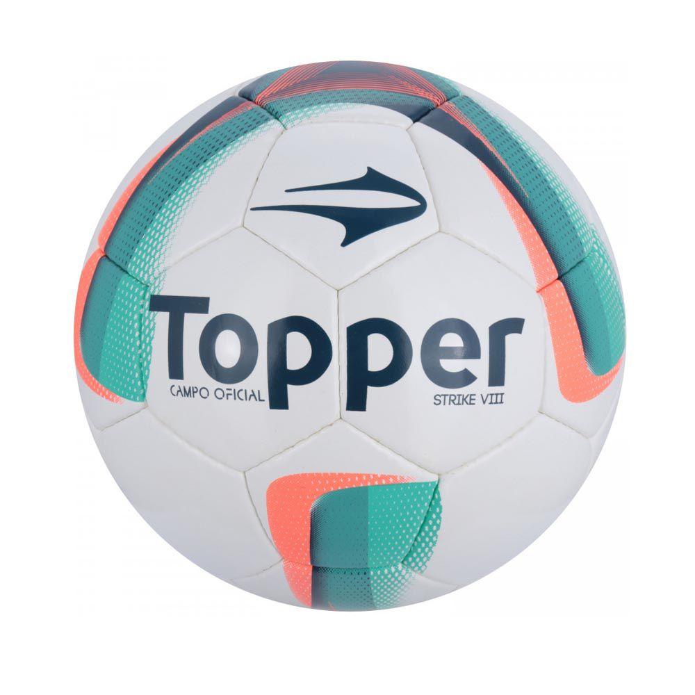 ... Bola de Futebol de Campo - Strike VIII - Costurado - Branco Azul Rosa  ... 0fccd82ed8308