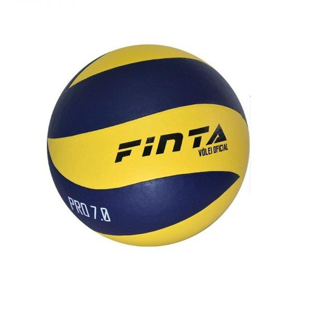 Bola de Volei - Pro 7.0 - Profissional - Amarelo/Azul - Finta