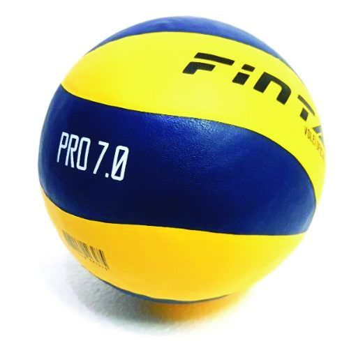 Bola de Volei - Pro 7.0 - Profissional - Amarelo/Azul - Finta  - Loja do Competidor
