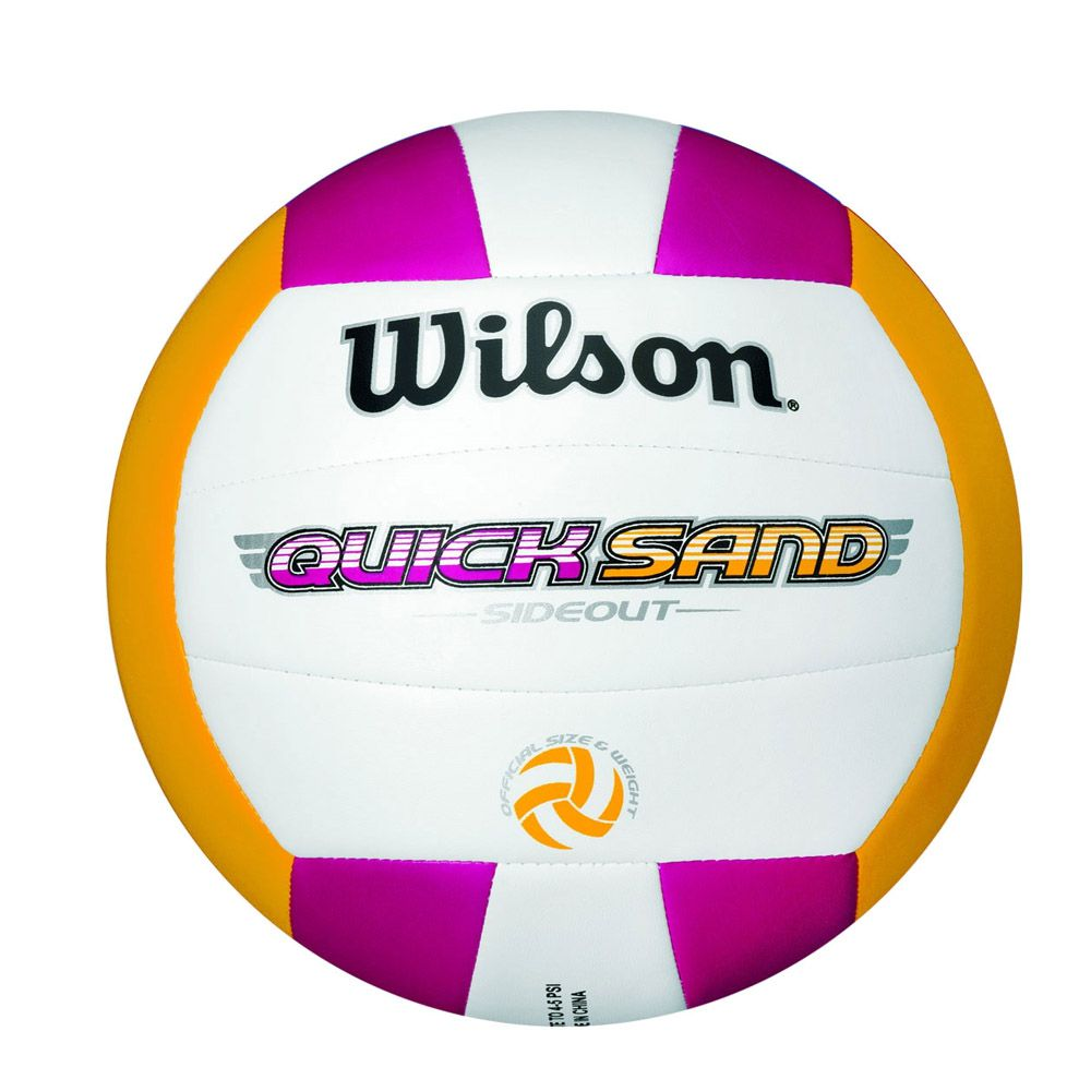 Bola de Volei Quicksand Side Out - Rosa/Amarelo - Microfibra - Wilson
