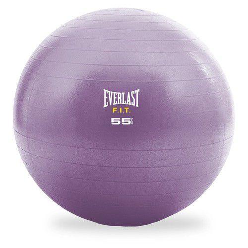 Bola Suíça - Ginástica/Pilates - 55 cm - Roxa - Everlast  - Loja do Competidor