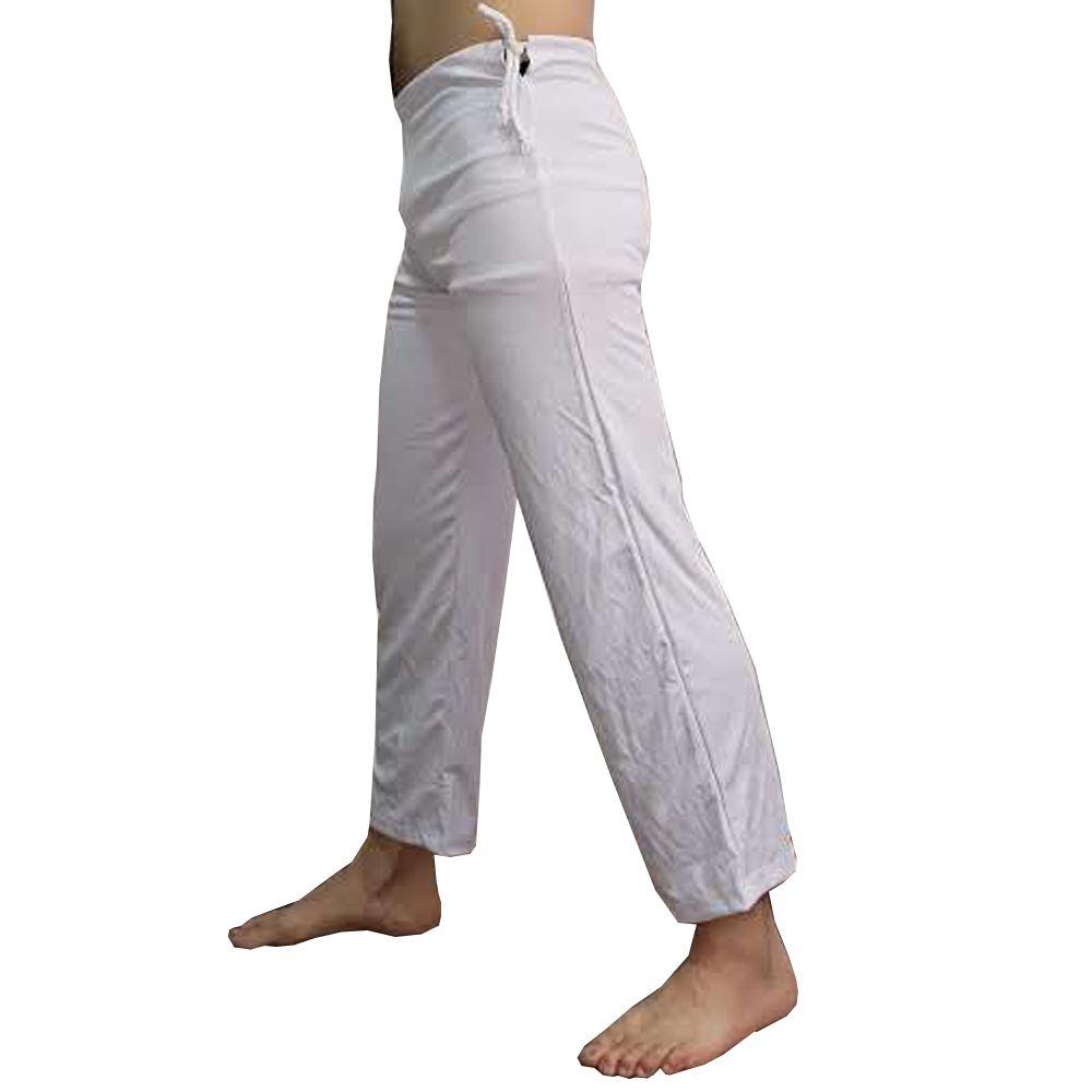 Calça Abadá de Capoeira - Helanca Branca - Básica