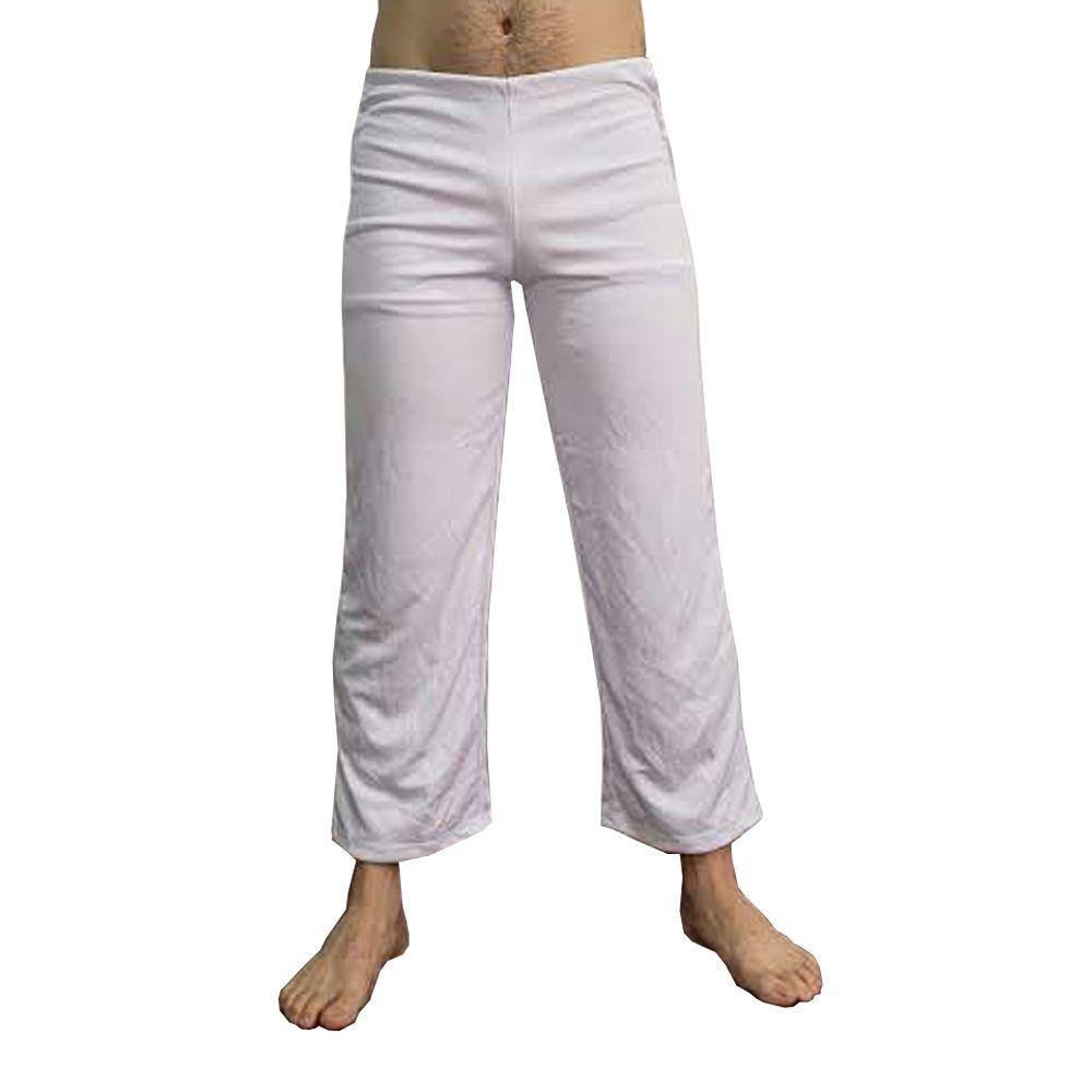Calça Abadá de Capoeira - Helanca Branca - Básica  - Loja do Competidor