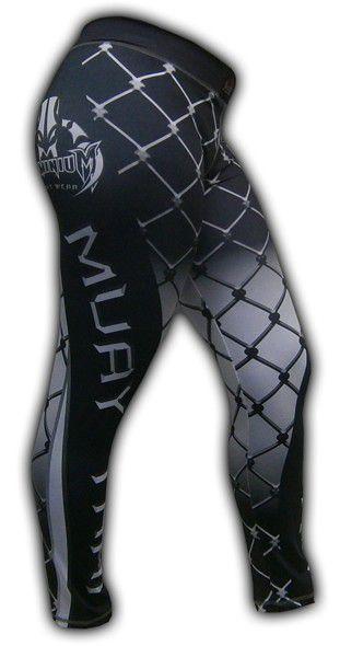 Calça de Compressão Térmica Feminina - Muay Thai - 2463P - Preto/Branco- Dominium -  - Loja do Competidor