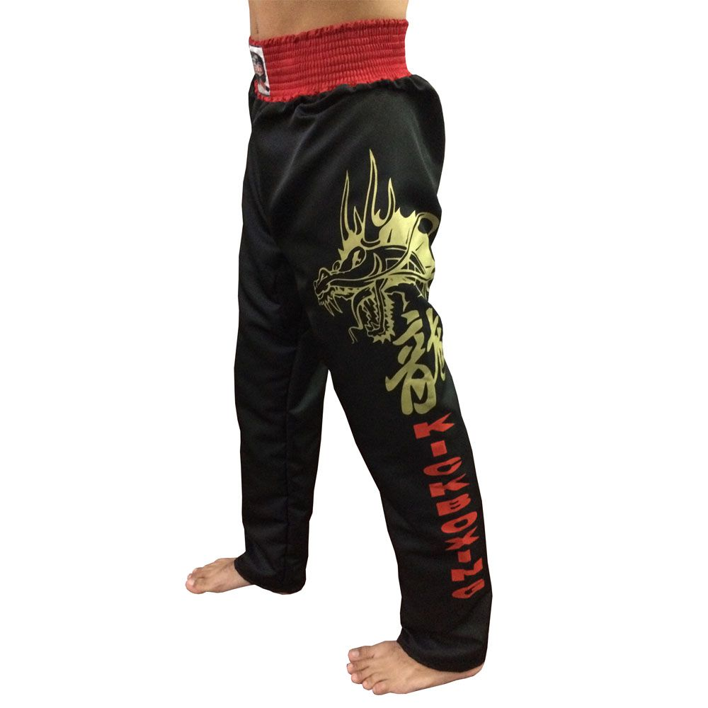 Calça KickBoxing Dragon Microfibra Adulto - Duelo -  - Loja do Competidor