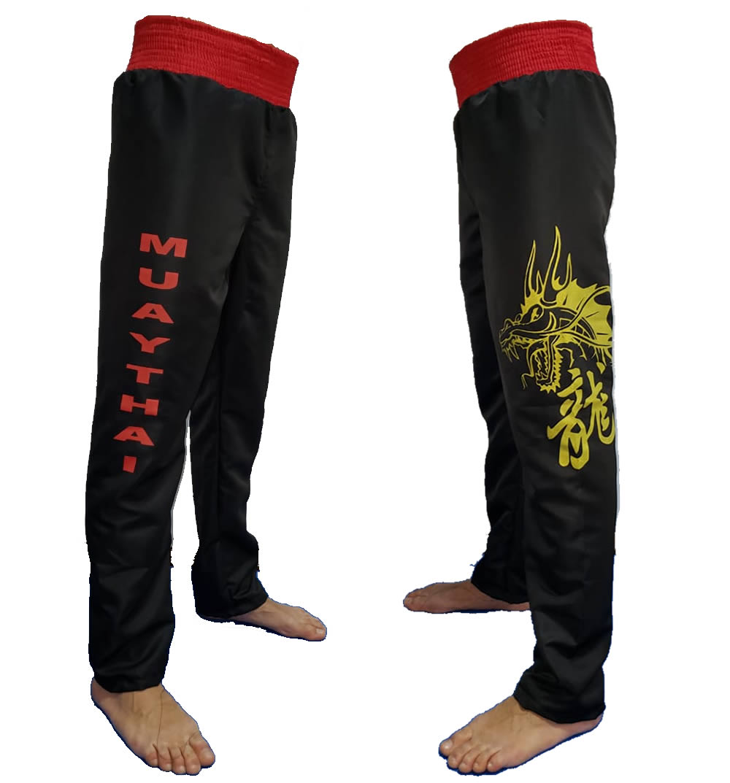 Calça Muay Thai Dragon Microfibra Adulto - Duelo