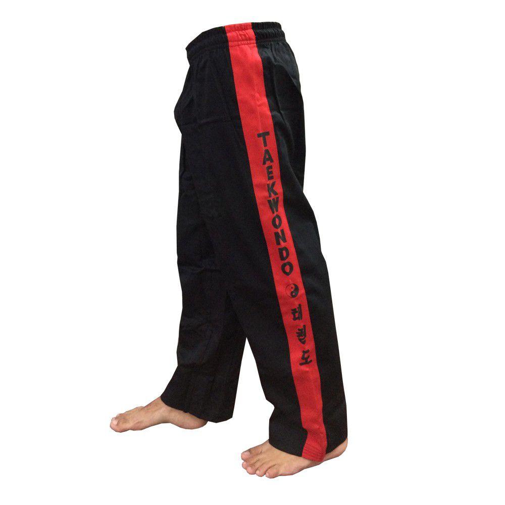 Calça Taekwondo - Brim - Adulto - Preta - Sung Ja -