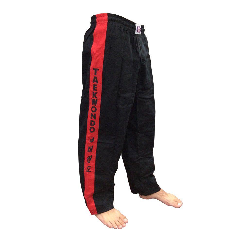 Calça Taekwondo - Brim - Infantil - Preta - Sung Ja -