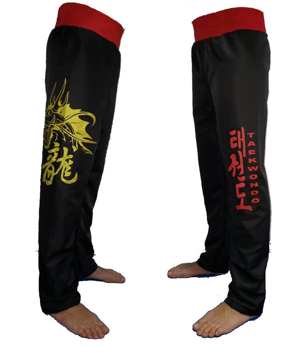 Calça Taekwondo Dragon Microfibra Adulto - Duelo
