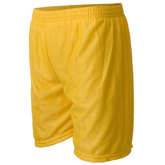 Calção de Futebol / Futsal - Liso - Amarelo - Adulto - Kanga