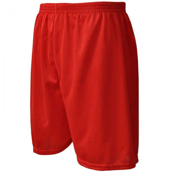 Calção de Futebol / Futsal - Liso - Vermelho - Adulto - Kanga