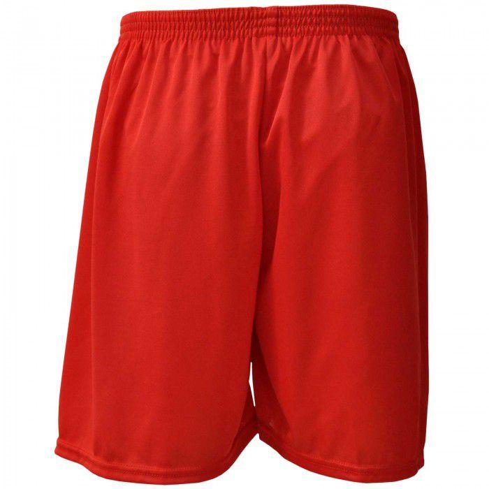 Calção de Futebol / Futsal - Liso - Vermelho - Adulto - Kanga  - Loja do Competidor