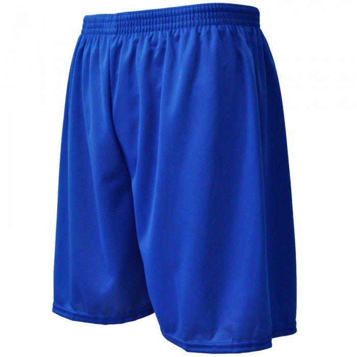 Calção de Futebol / Futsal - Liso - Azul-  Adulto - Kanga