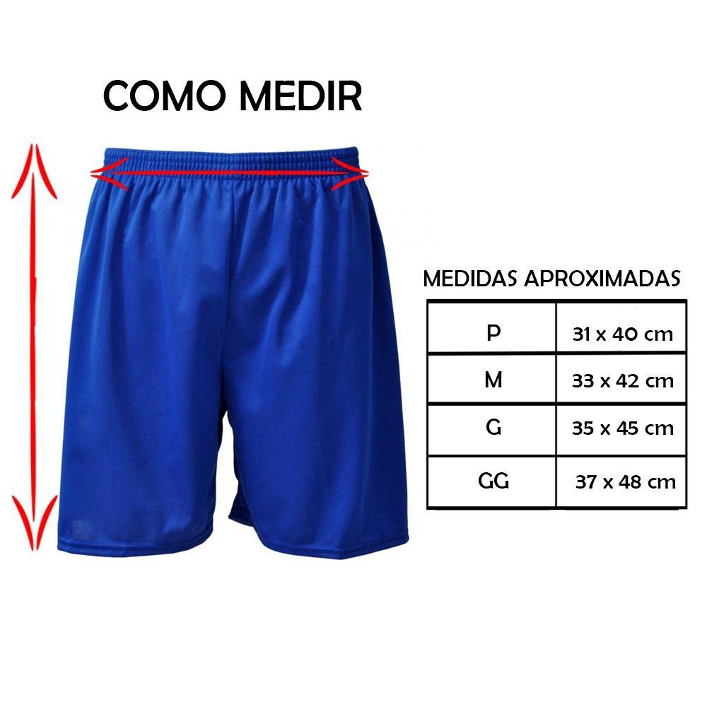 Calção de Futebol / Futsal - Liso - Azul-  Adulto - Kanga  - Loja do Competidor