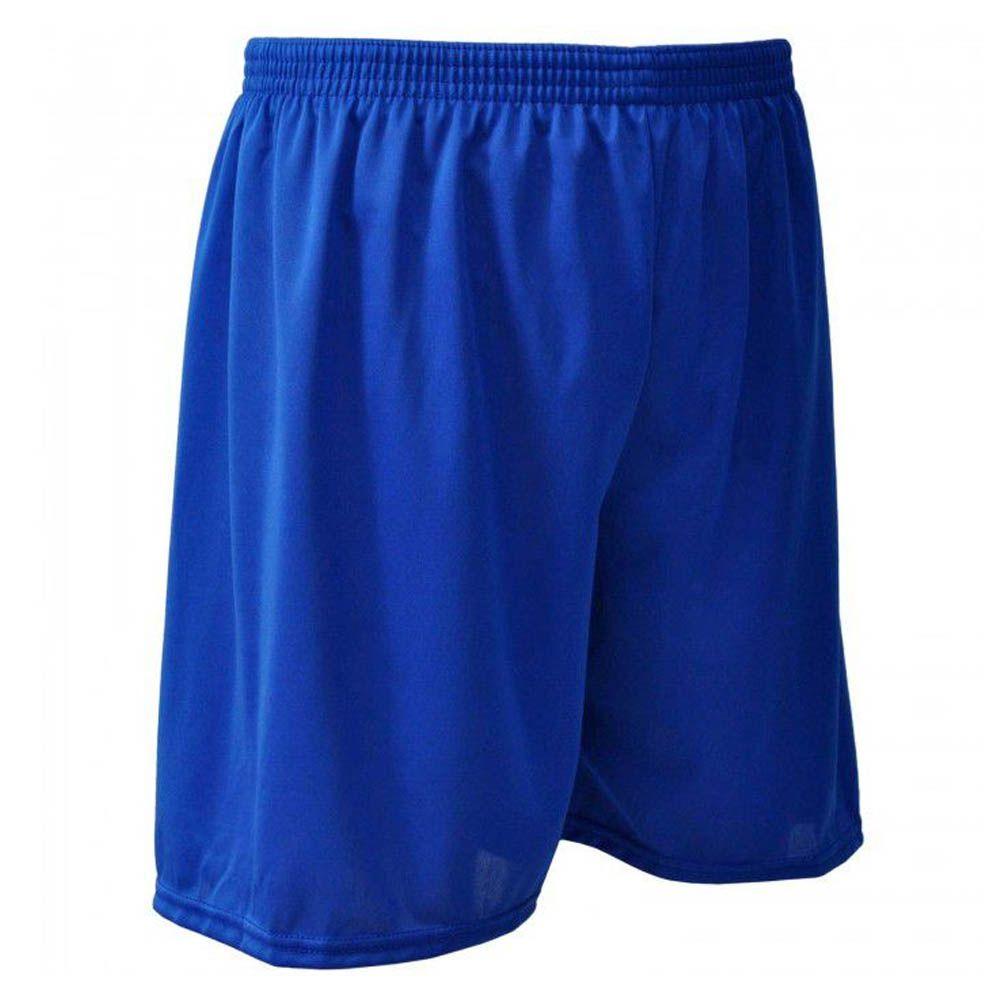 Calção de Futebol Futsal - Liso - Azul - Infantil - Kanga