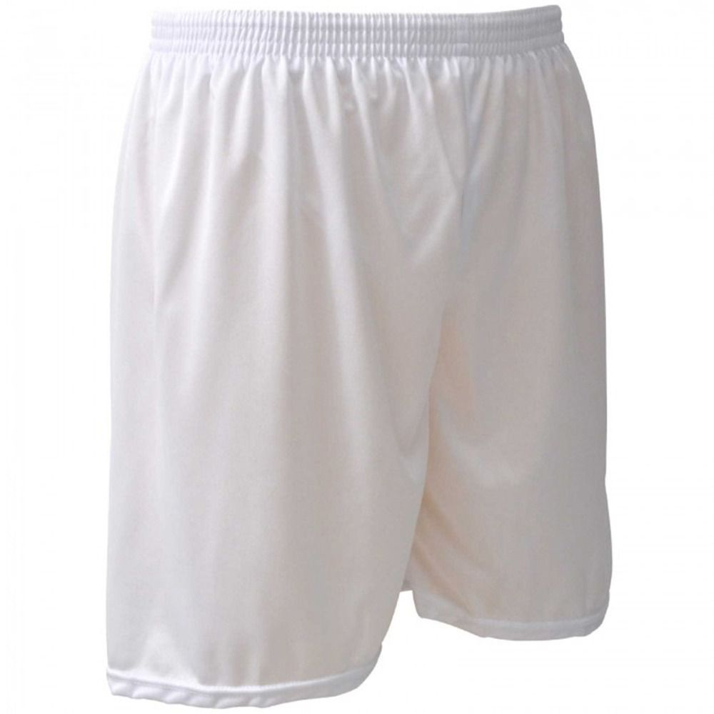 Calção de Futebol / Futsal - Liso - Branco -  Adulto - Kanga