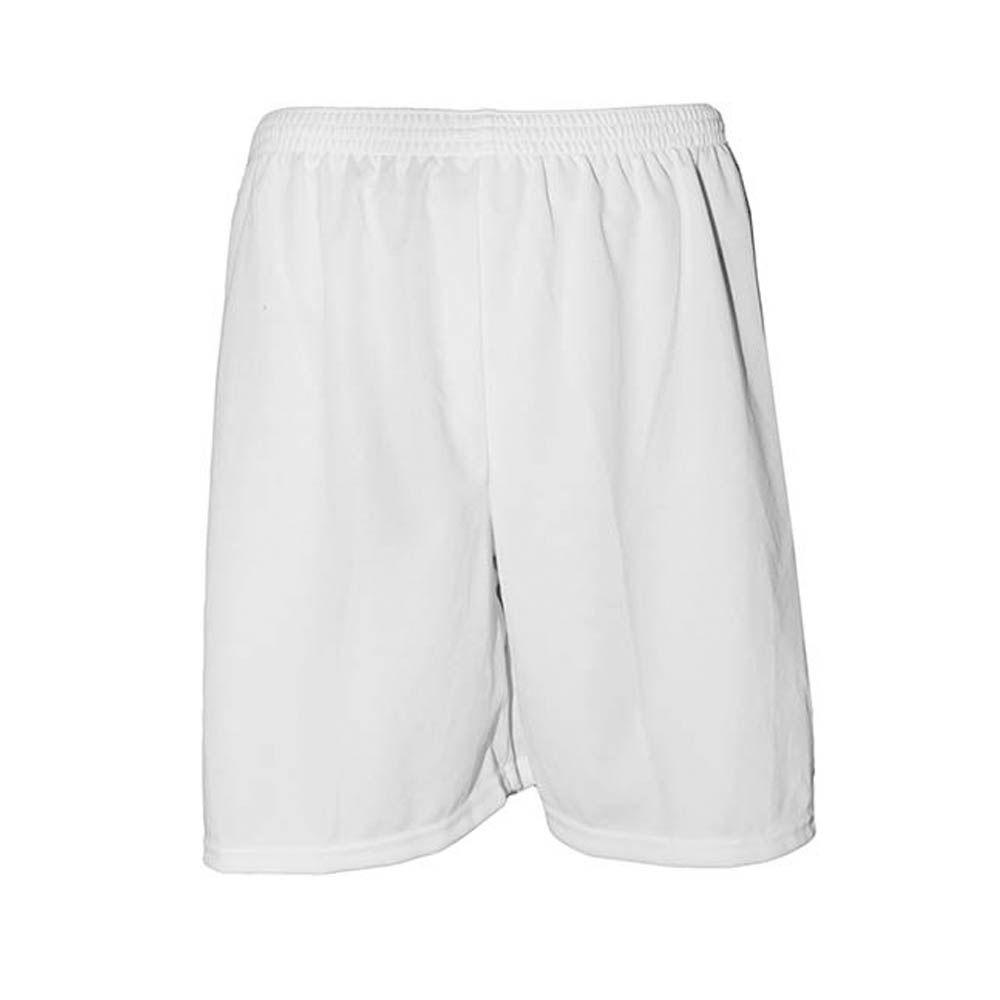 Calção de Futebol Futsal - Liso - Branco - Infantil - Kanga