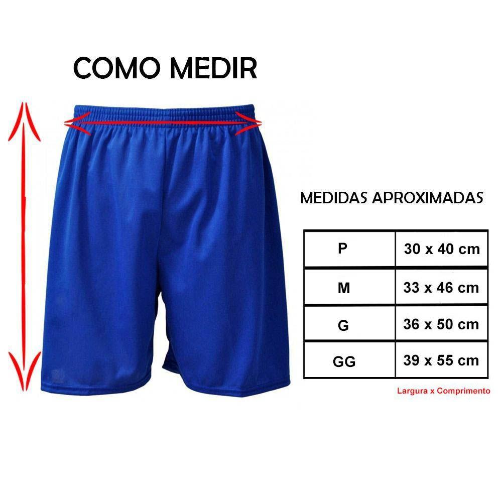 Calção de Futebol Futsal - Liso - Branco - Infantil - Kanga  - Loja do Competidor