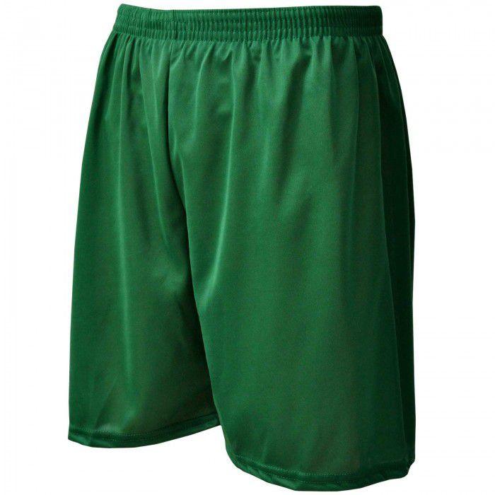 Calção de Futebol / Futsal - Liso - Verde- Adulto - Kanga