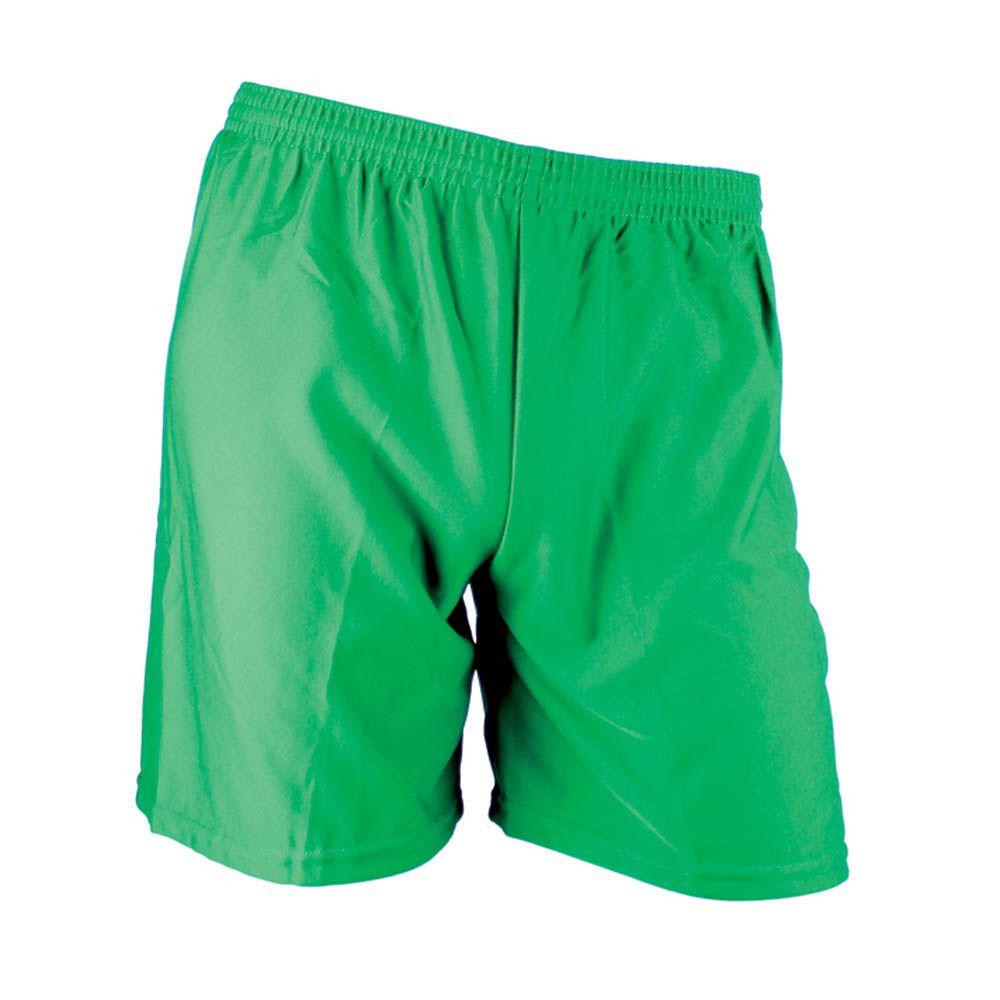 Calção de Futebol Futsal - Liso - Verde - Infantil - Kanga