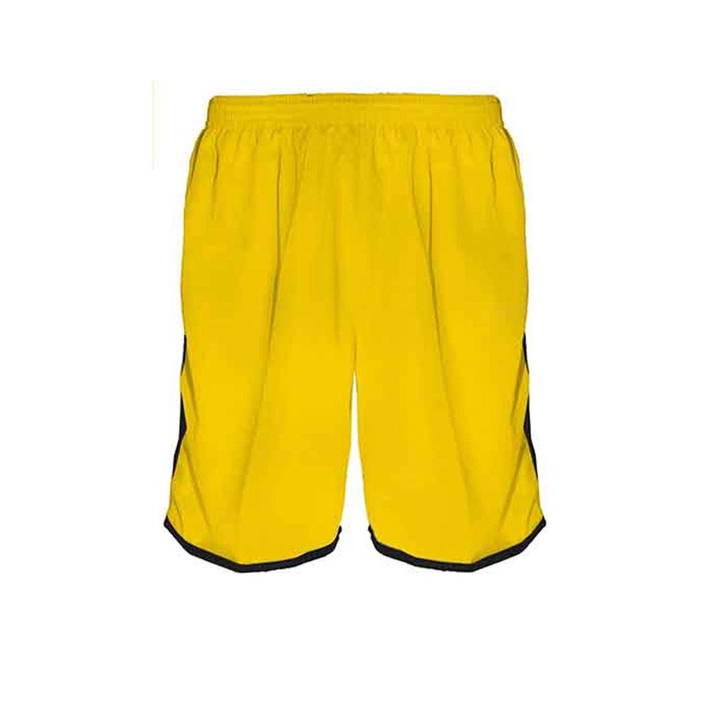 Calção de Futebol Futsal Musculação Lotus - Amarelo/Preto - Adulto - Kanga  - Loja do Competidor