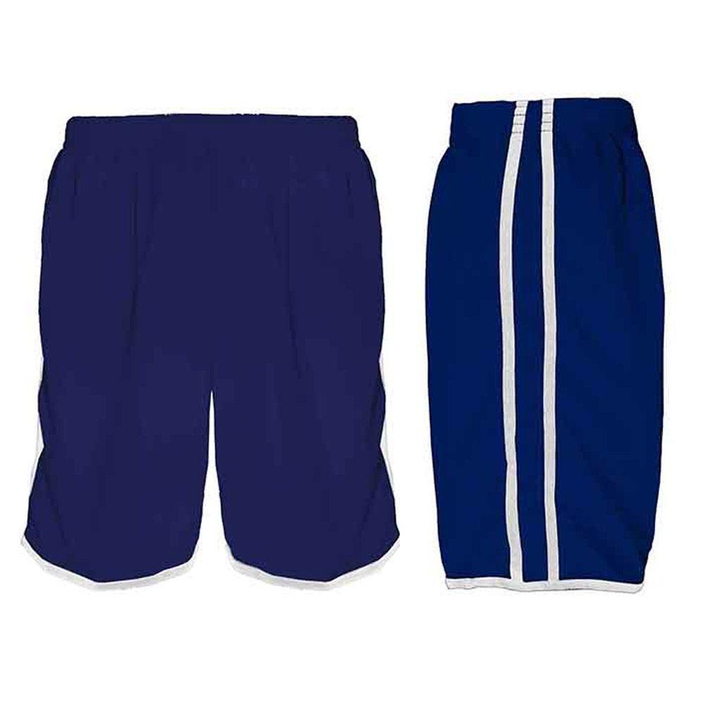 Calção de Futebol / Futsal / Musculação - Lotus- Azul/Branco- Adulto - Kanga
