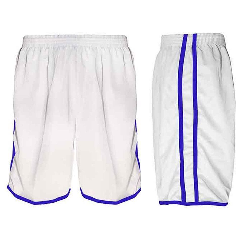 Calção de Futebol Futsal Musculação - Lotus - Branco/Azul - Adulto - Kanga