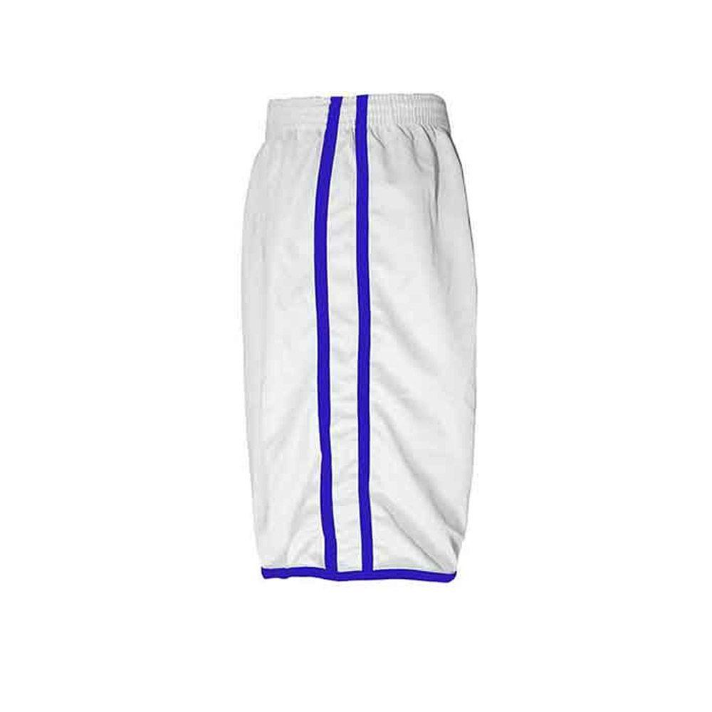 Calção de Futebol Futsal Musculação - Lotus - Branco/Azul - Adulto - Kanga  - Loja do Competidor