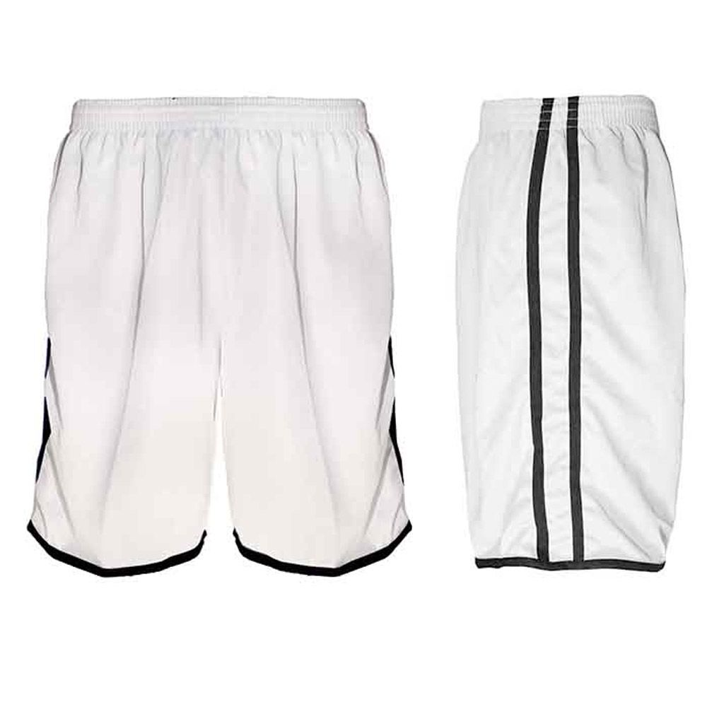 Calção de Futebol / Futsal / Musculação - Lotus- Branco/Preto- Adulto - Kanga
