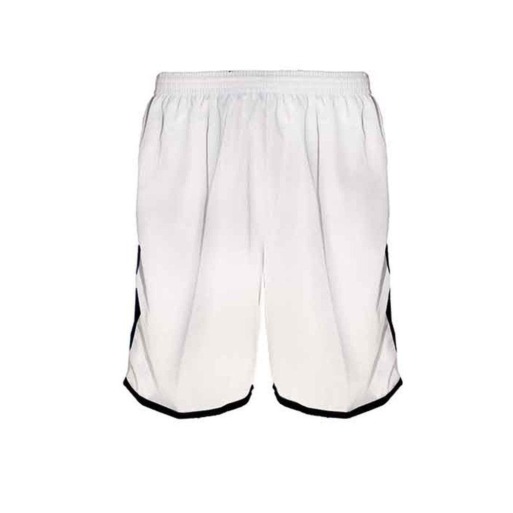 Calção de Futebol / Futsal / Musculação - Lotus- Branco/Preto- Adulto - Kanga  - Loja do Competidor