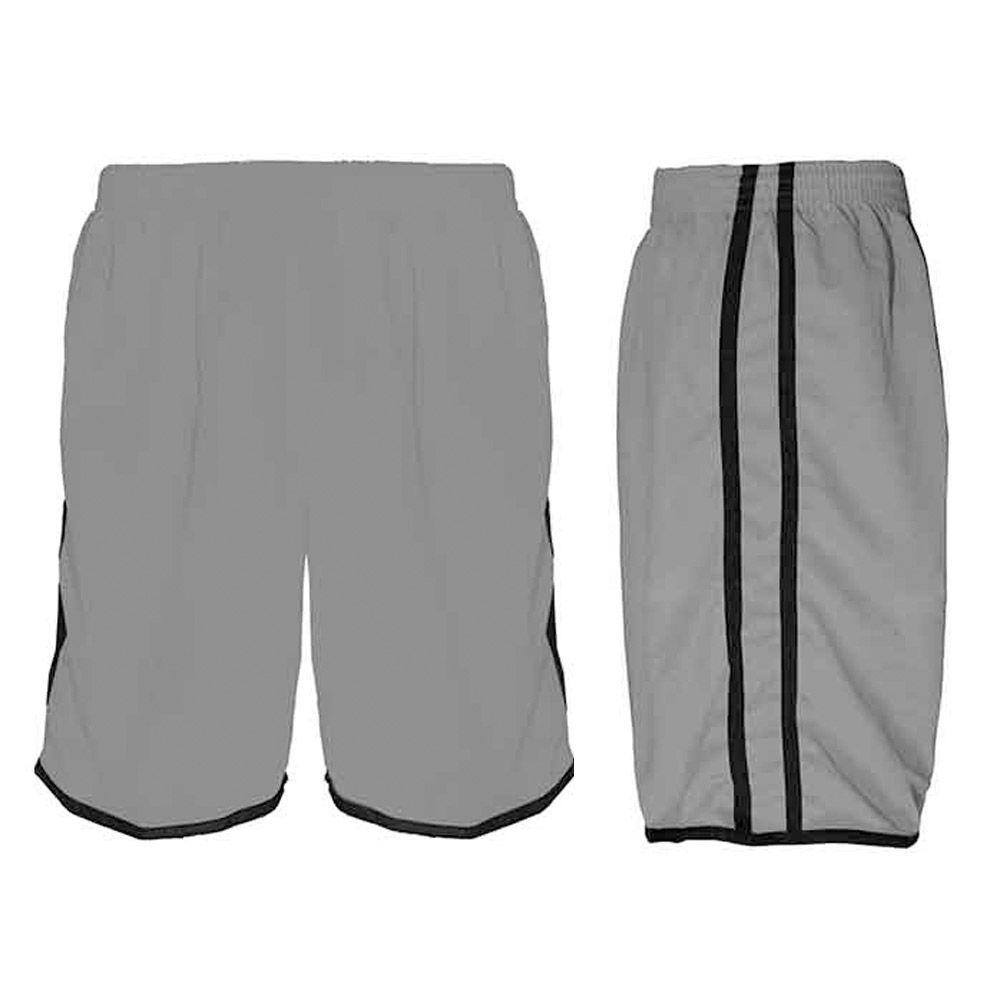 Calção de Futebol / Futsal / Musculação - Lotus- Cinza/Preto- Adulto - Kanga