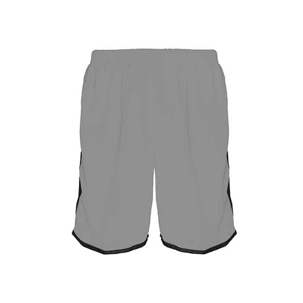 Calção de Futebol / Futsal / Musculação - Lotus- Cinza/Preto- Adulto - Kanga  - Loja do Competidor