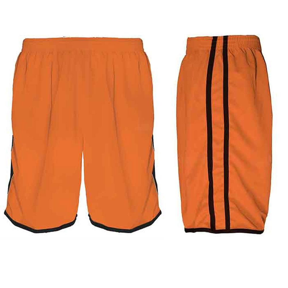 Calção de Futebol / Futsal / Musculação - Lotus- Laranja/Preto- Adulto - Kanga