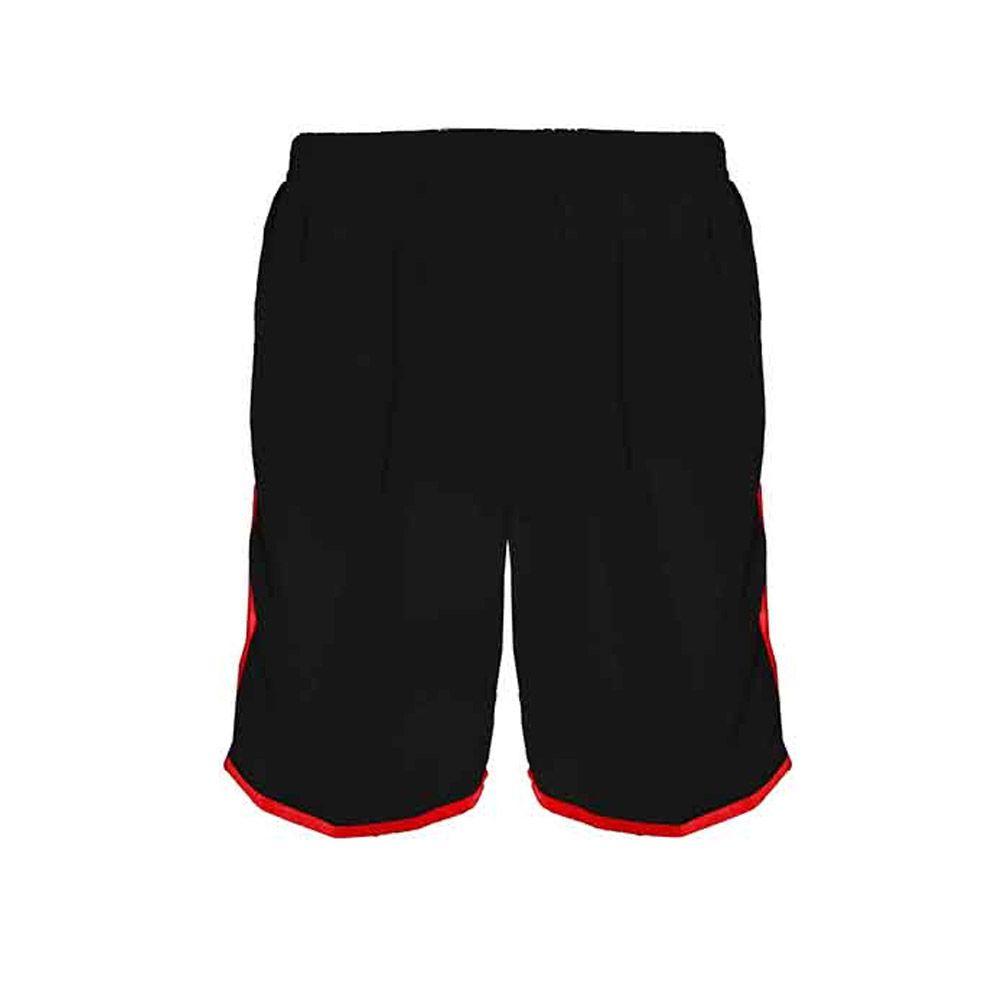 Calção de Futebol / Futsal / Musculação - Lotus- Preto/Vermelho- Adulto - Kanga  - Loja do Competidor