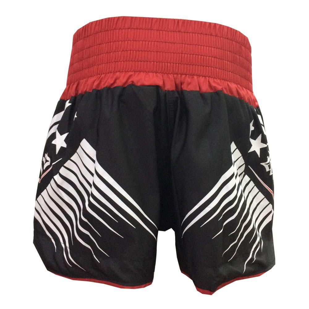 Calção Short Kickboxing - Glory - Preto/Vermelho - Uppercut -  - Loja do Competidor