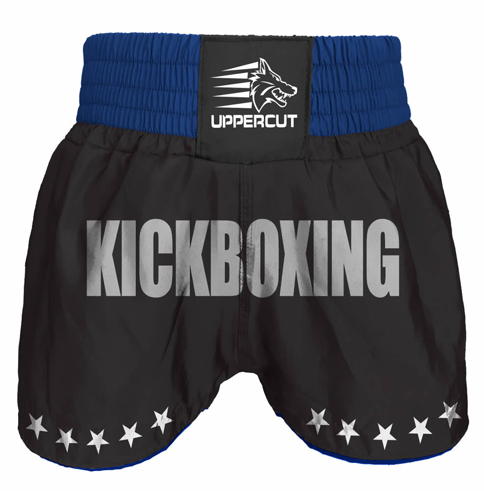 Calção Short Kickboxing  - GP - Preto/Azul - Uppercut