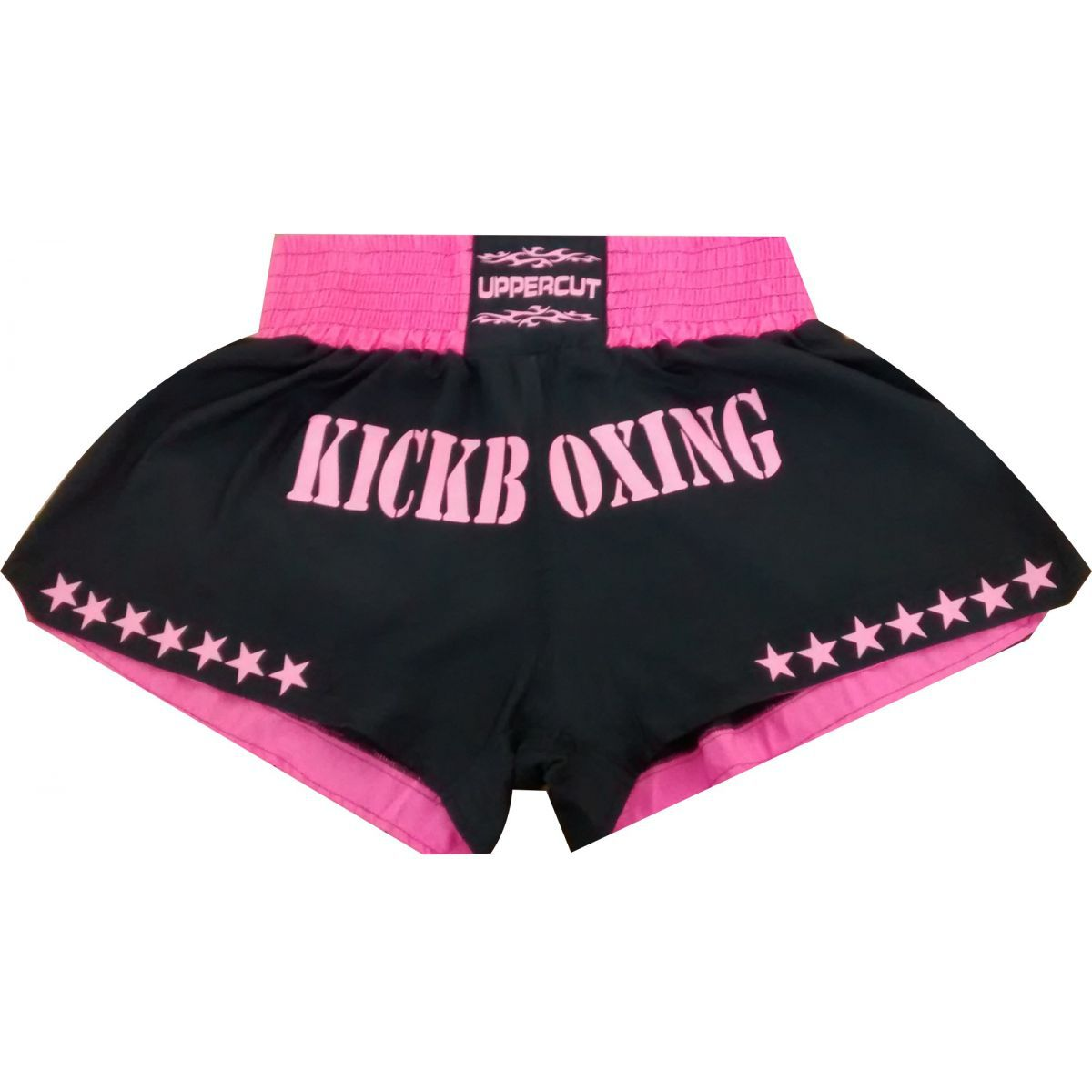 Calção / Short Kickboxing  - GP - Preto/Rosa- Uppercut .
