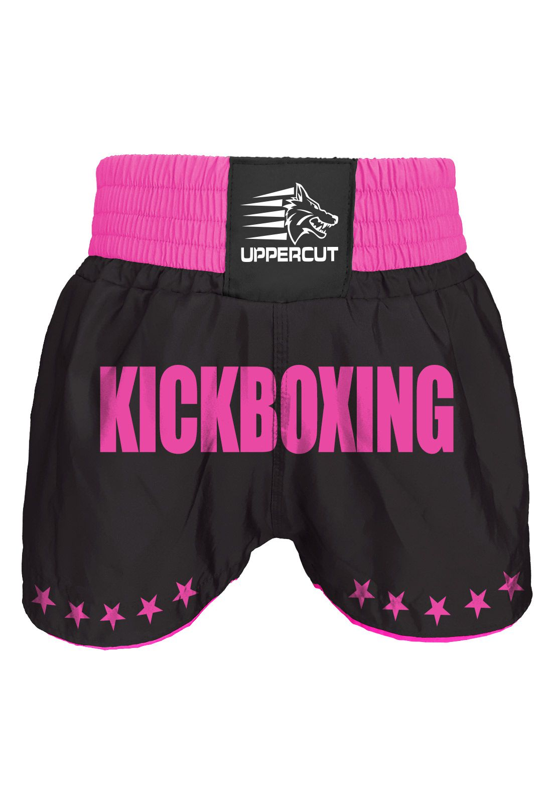 Calção Short Kickboxing  - GP - Preto/Rosa- Uppercut  - Loja do Competidor