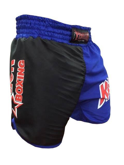 Calção Short Kickboxing - K1- Cavado - Azul/Preto - Toriuk  - Loja do Competidor
