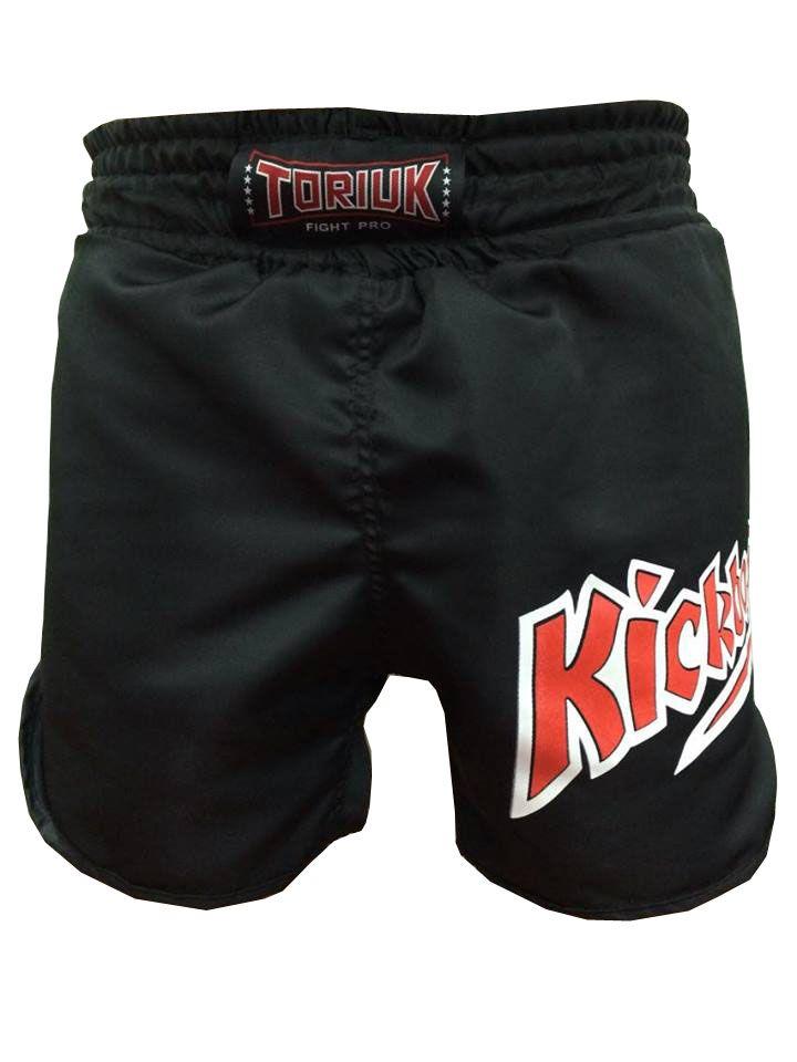 Calção / Short Kickboxing - K1 - Cavado - Preto - Toriuk .  - Loja do Competidor