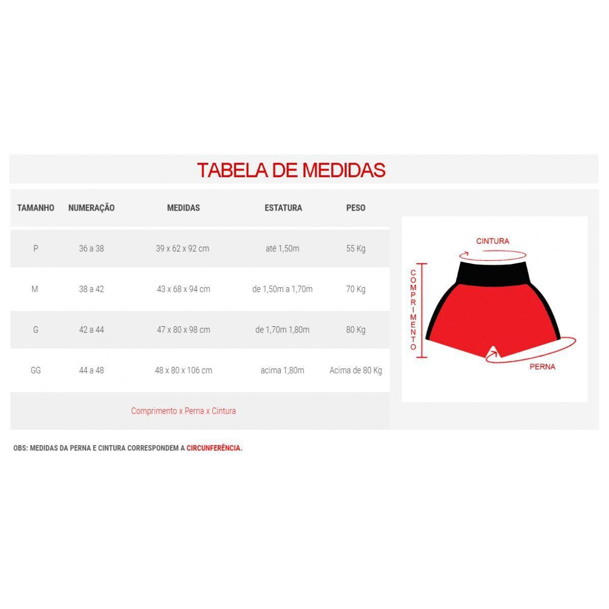 Calção Short Kickboxing - K1 - Cavado - Preto/Vermelho - Toriuk  - Loja do Competidor